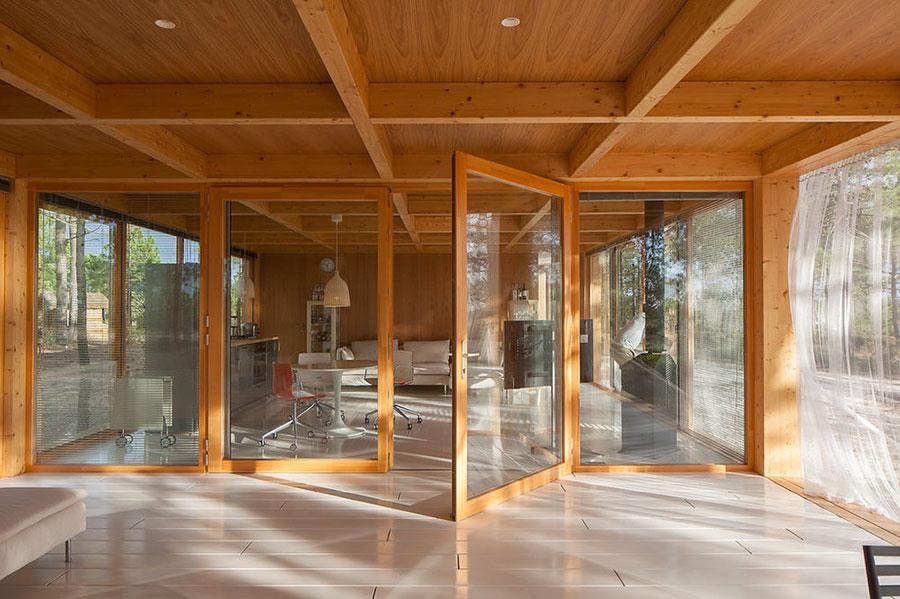 Progetto di casa prefabbrica in legno dal design moderno n.55