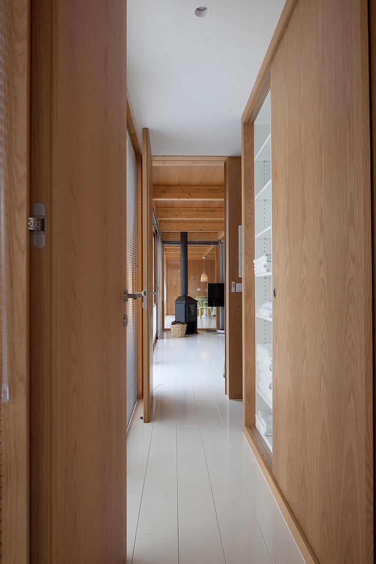 Progetto di casa prefabbrica in legno dal design moderno n.56