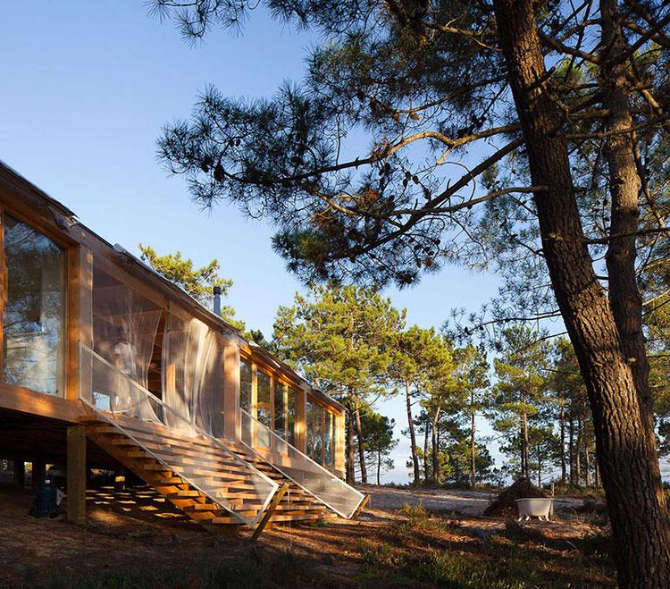 Progetto di casa prefabbrica in legno dal design moderno n.57