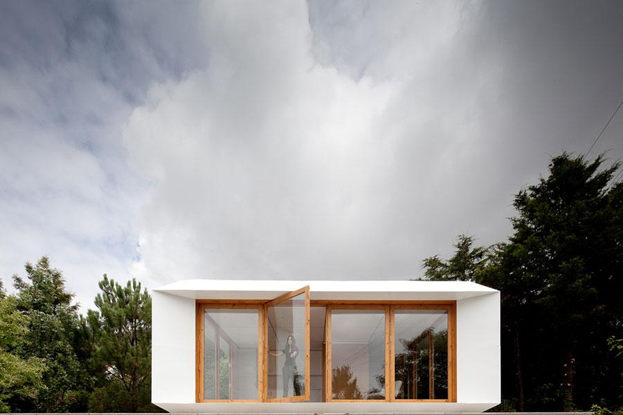Progetto di casa prefabbrica in legno dal design moderno n.58