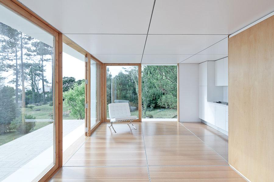 Progetto di casa prefabbrica in legno dal design moderno n.59