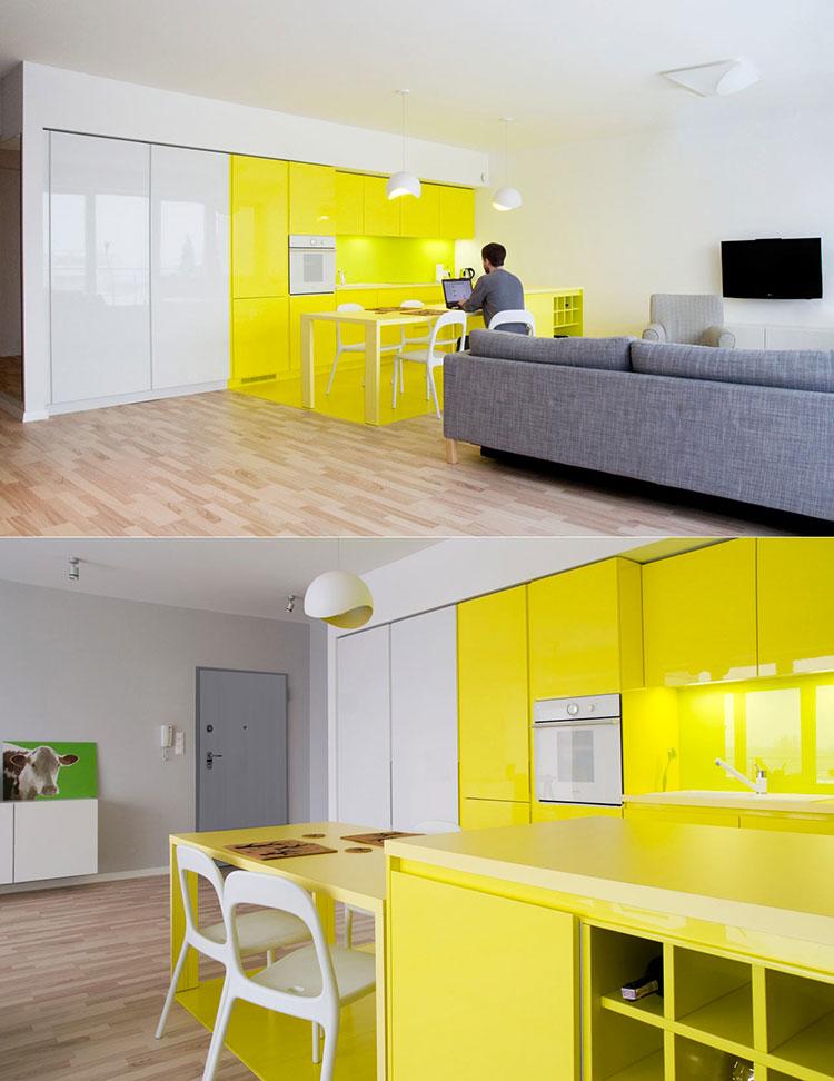 cucina gialla idee design moderno : Cucina gialla 03