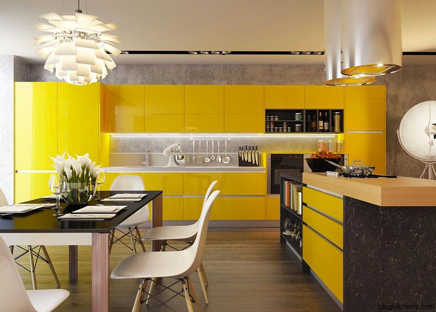 Beautiful Cucine Moderne Gialle Images - Idee Pratiche e di Design ...