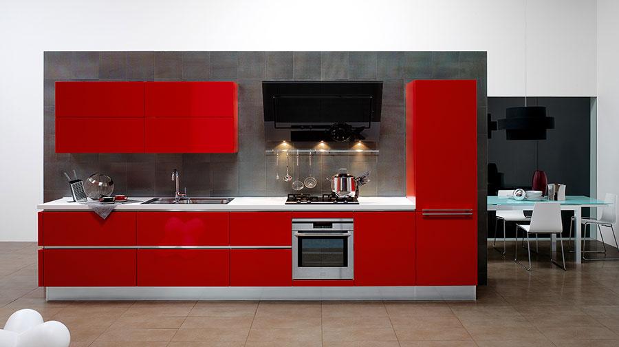 Modello di cucina rossa dal design moderno n.19