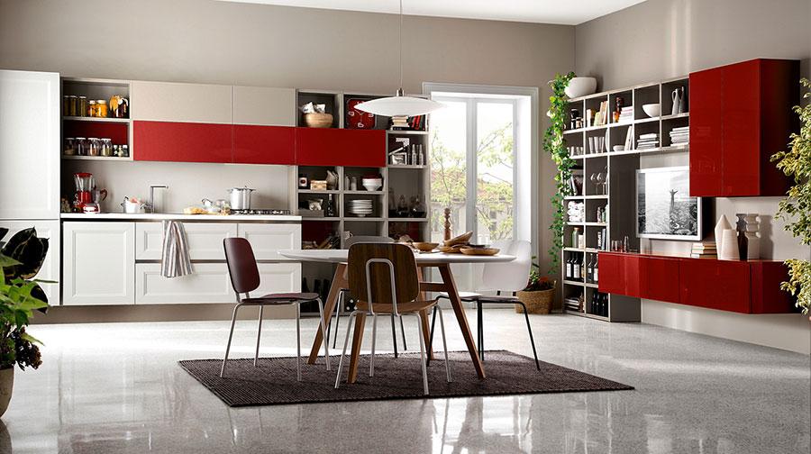 Modello di cucina rossa dal design moderno n.20
