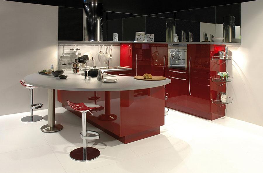 Modello di cucina rossa dal design moderno n.21
