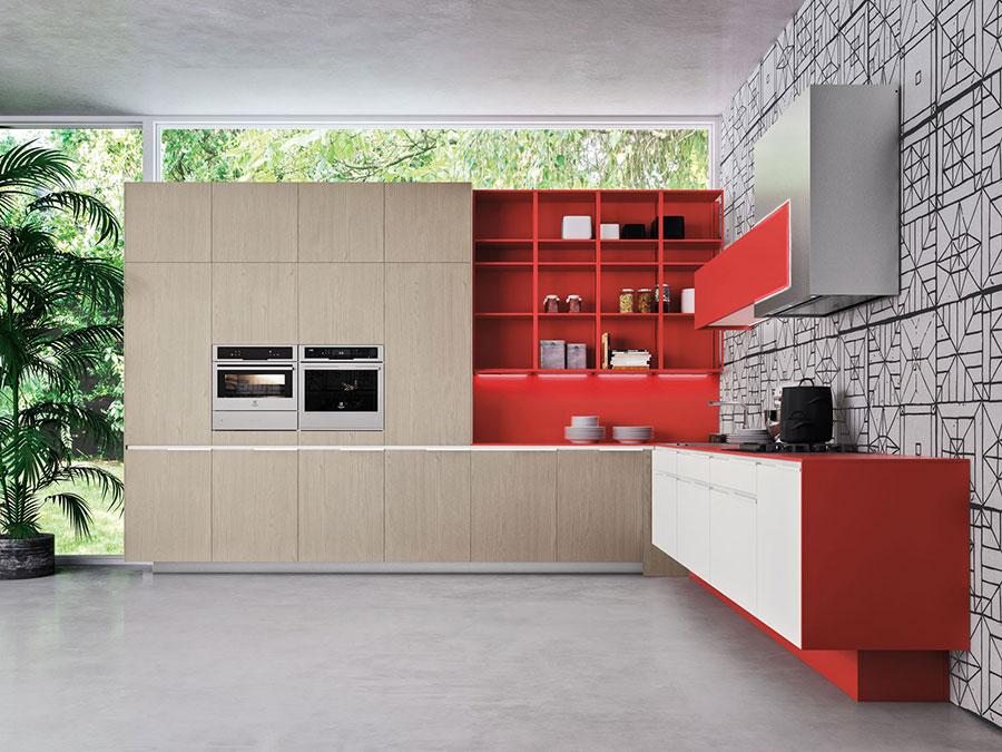 Modello di cucina rossa dal design moderno n.25