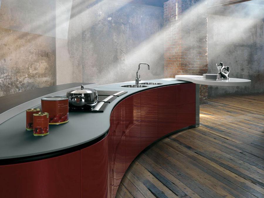 Modello di cucina rossa dal design moderno n.26