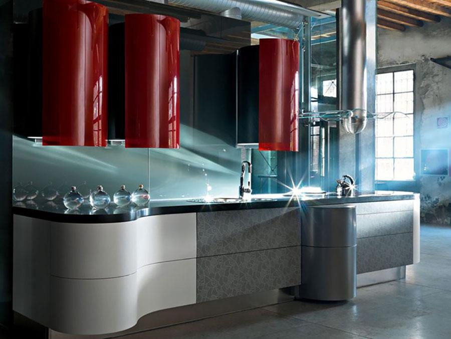 Modello di cucina rossa dal design moderno n.27