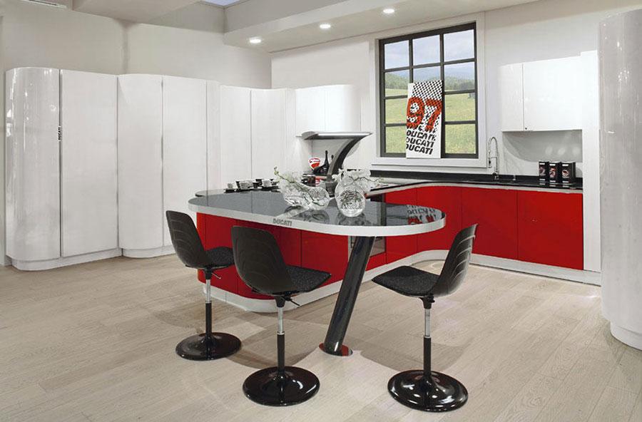 Modello di cucina rossa dal design moderno n.29