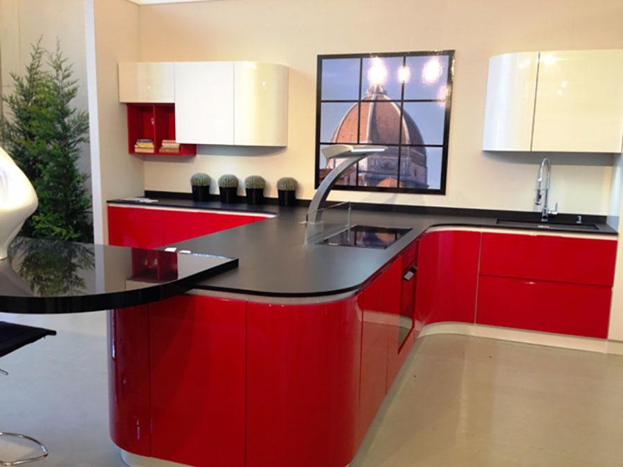 Modello di cucina rossa dal design moderno n.30