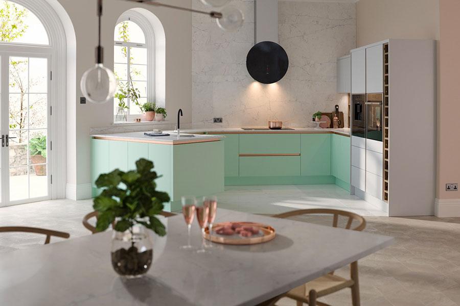 Idee cucina verde acqua n.01