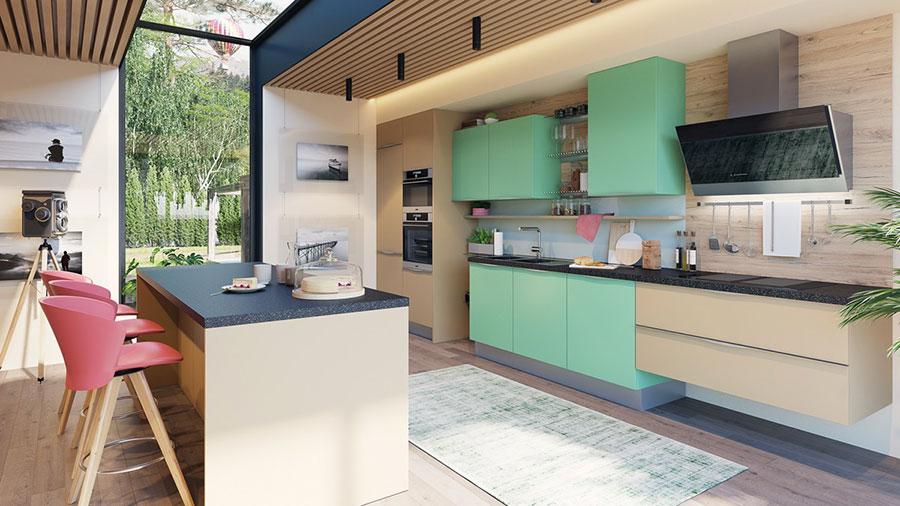 Idee cucina verde acqua n.03