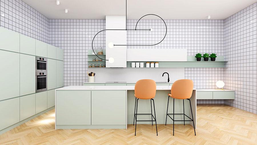 Idee cucina verde acqua n.04