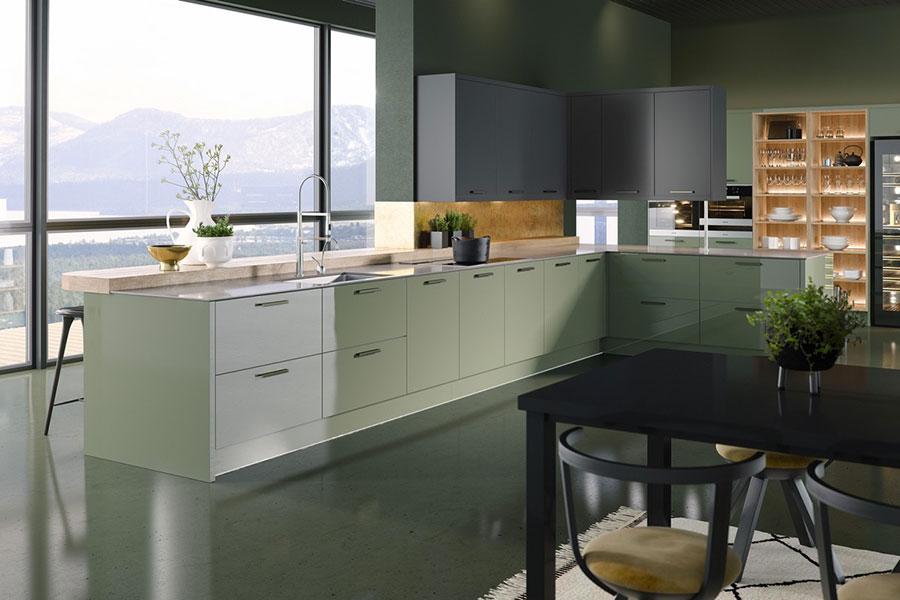 Idee cucina verde acqua n.05
