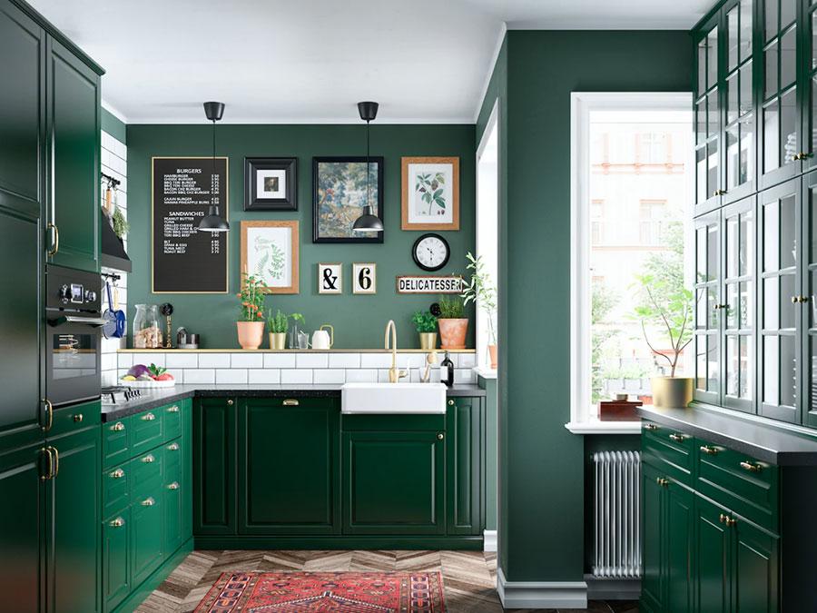Idee cucina verde Ikea n.01