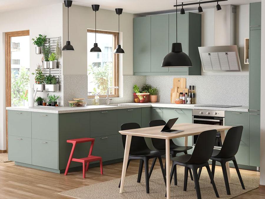 Idee cucina verde Ikea n.02