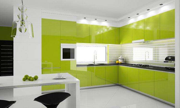 Modello di cucina verde dal design moderno n.04