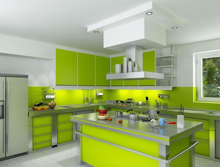Modello di cucina verde dal design moderno n.10