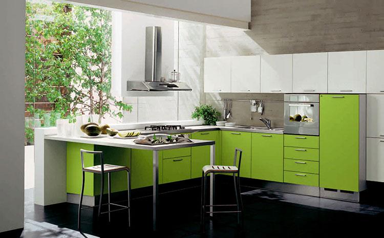 Modello di cucina verde dal design moderno n.11