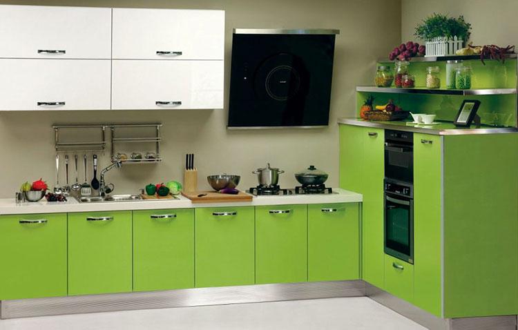 Modello di cucina verde dal design moderno n.12