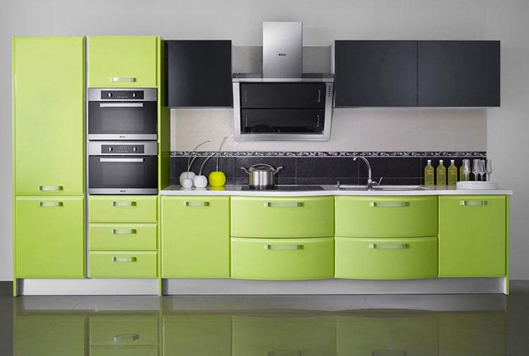Modello di cucina verde dal design moderno n.15