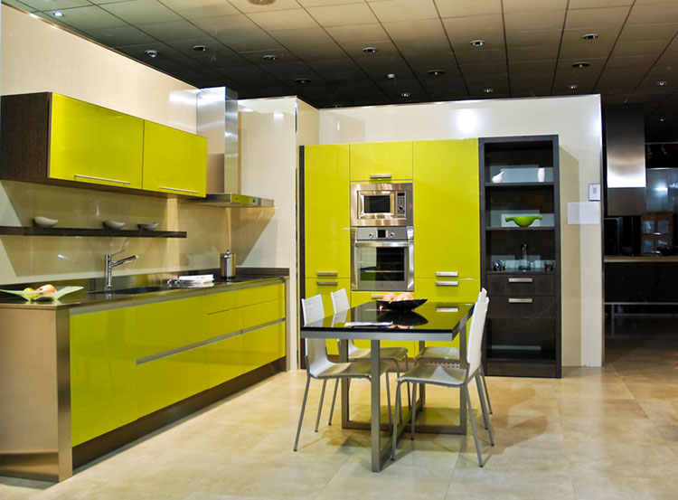 Modello di cucina verde dal design moderno n.16