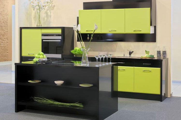 Modello di cucina verde dal design moderno n.17