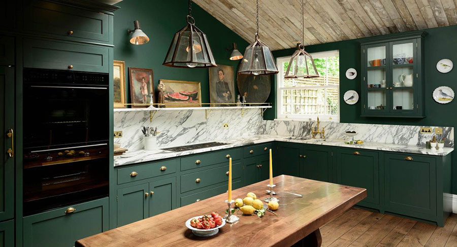 Idee cucina verde scuro n.01