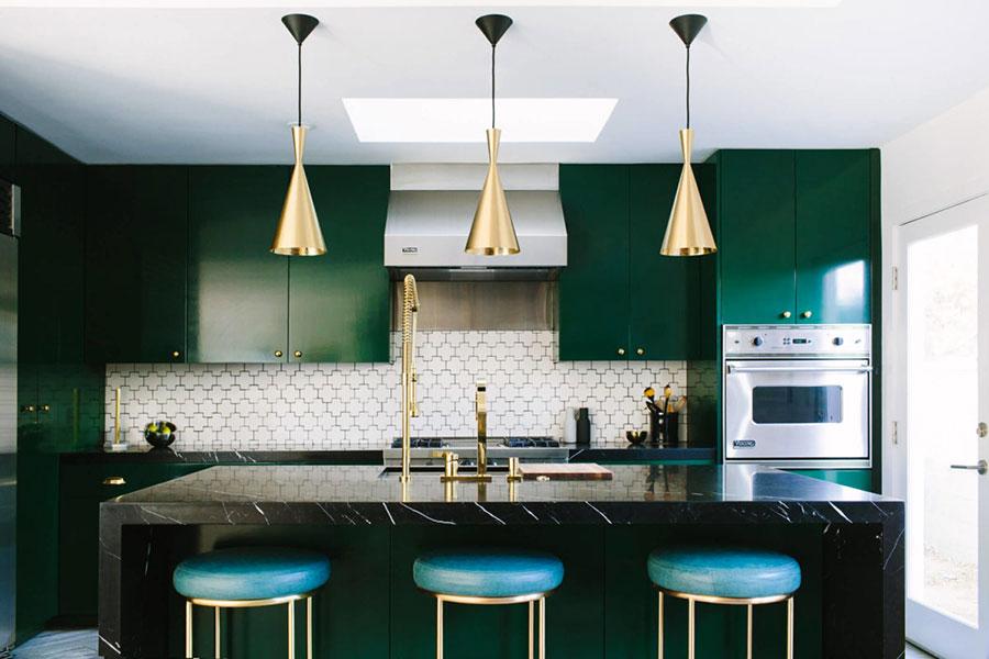 Idee cucina verde scuro n.03
