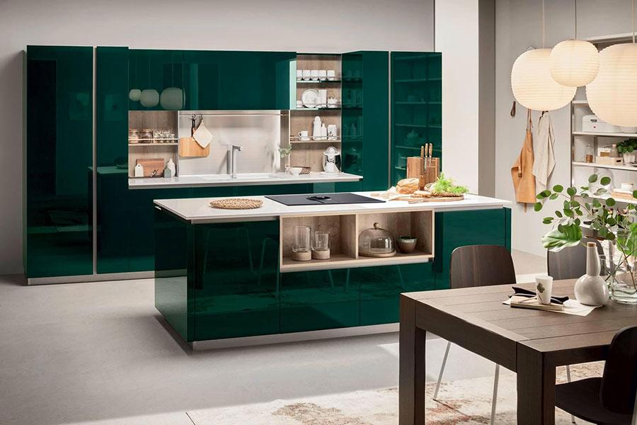 Idee cucina verde scuro n.04