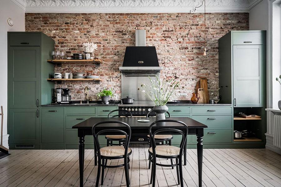 Idee cucina verde scuro n.06