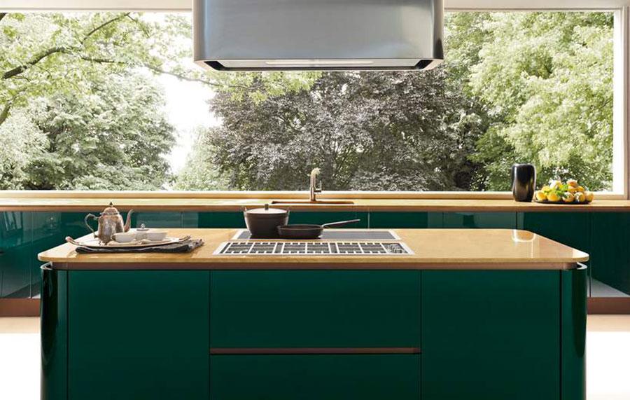 Idee cucina verde scuro n.07