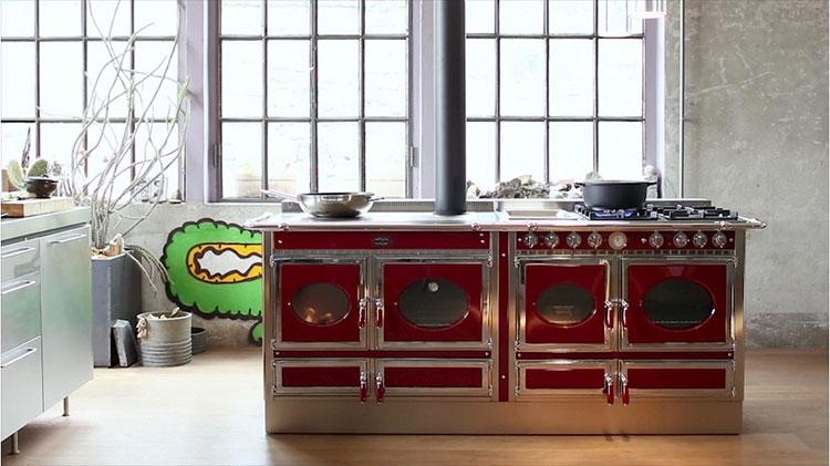 Modello di cucina a legna con forno integrato n.07