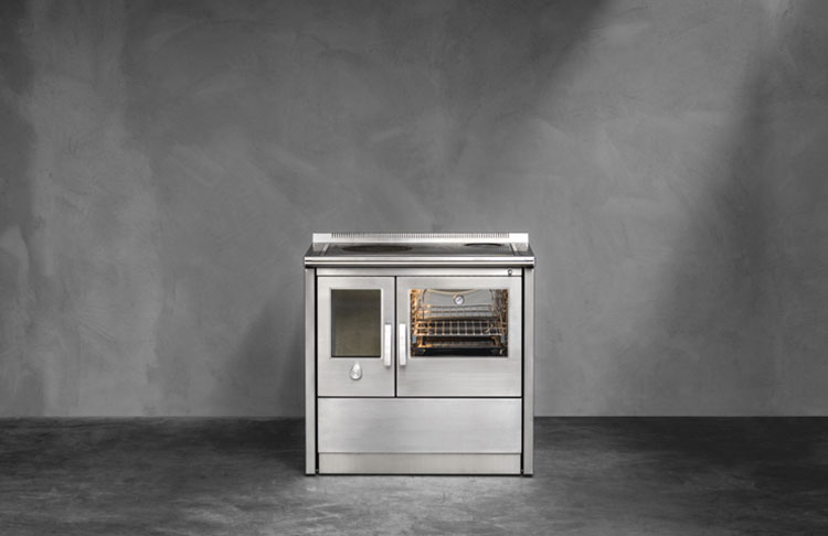 Modello di cucina a legna con forno integrato n.08