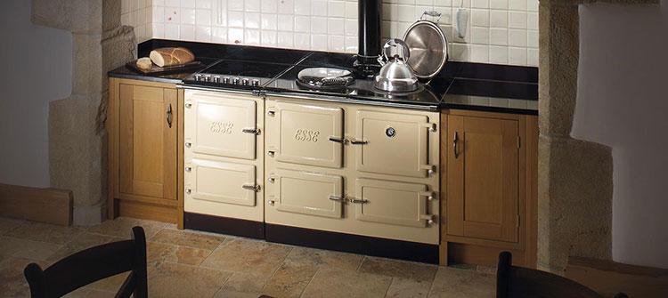 Modello di cucina a legna con forno integrato n.26