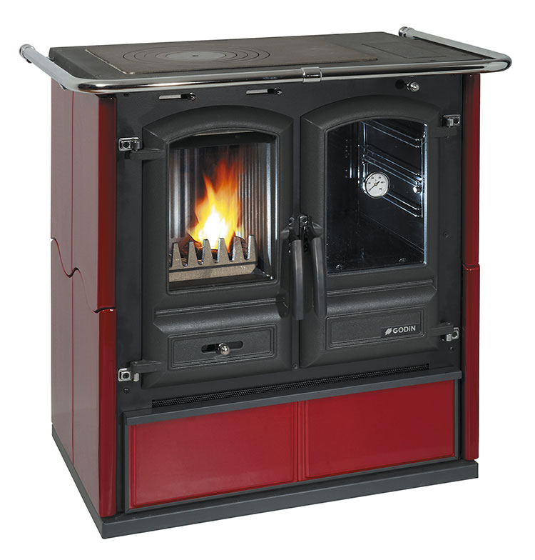 Modello di cucina a legna con forno integrato n.28
