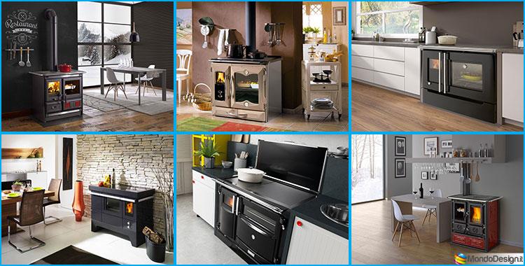 30 modelli di cucine a legna con forno integrato for Modelli di cucine