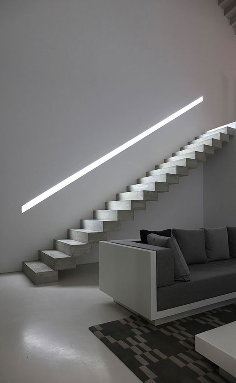 Illuminazione per Scale Interne: 30 Idee Originali con Luci a LED ...