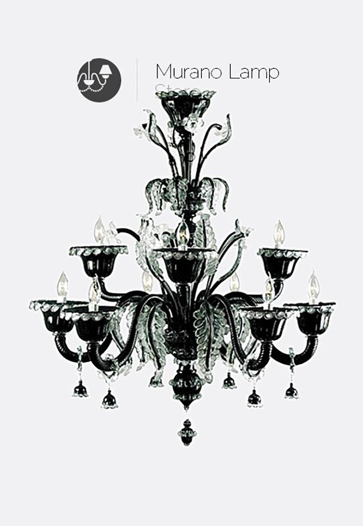 Lampadario in vetro di Murano n.2