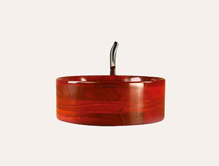 Modello di lavabo bagno in legno dal design originale n.18