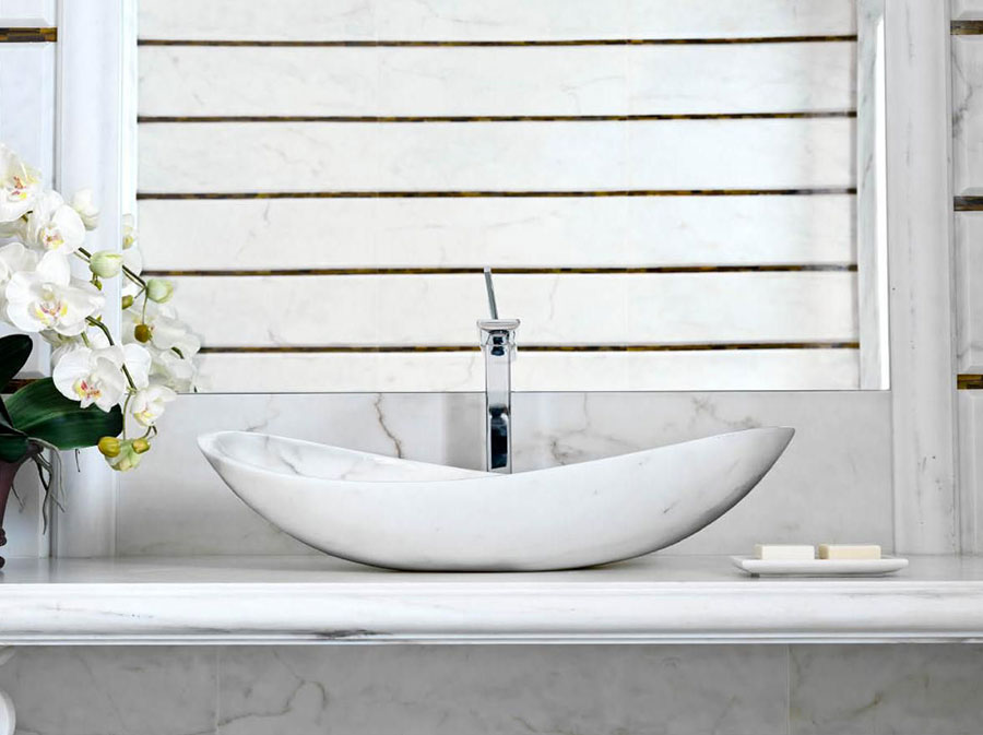 30 modelli di lavabo bagno in pietra da appoggio - Idee per lavabo bagno ...