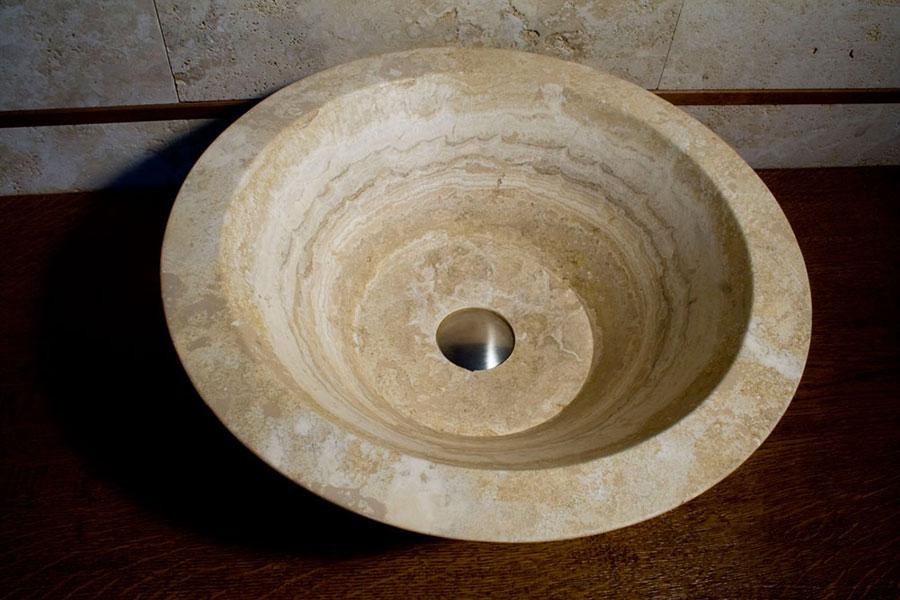 Modello di lavabo bagno in pietra da appoggio originale n.17