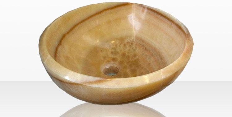 Modello di lavabo bagno in pietra da appoggio originale n.28
