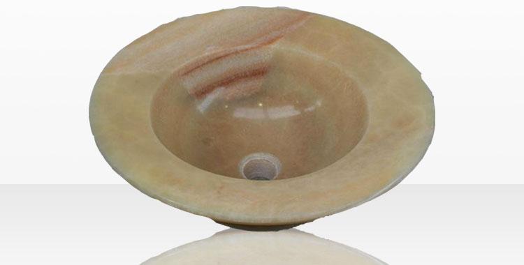 Modello di lavabo bagno in pietra da appoggio originale n.29
