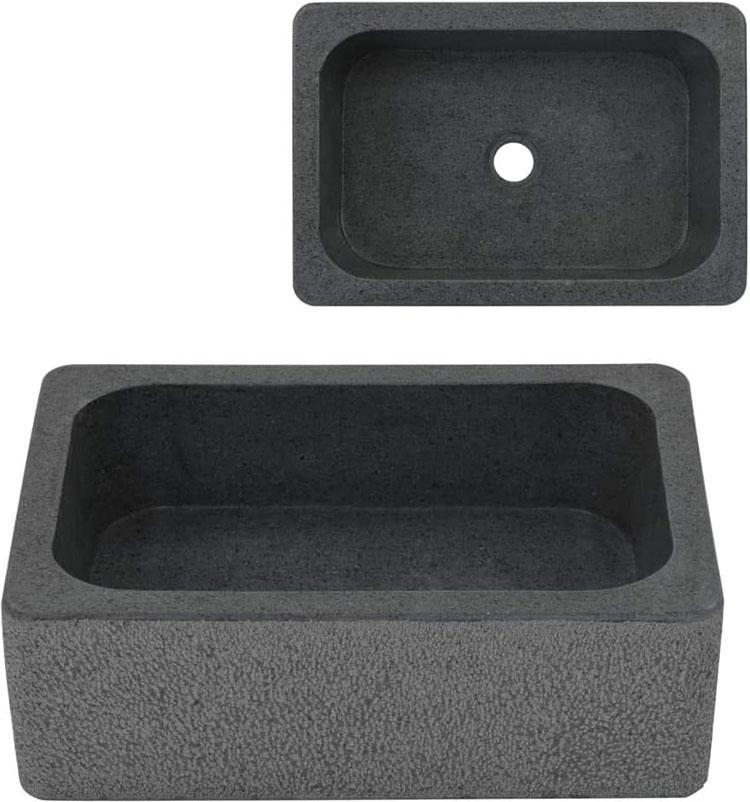 Modello di lavabo bagno in pietra di fiume n.05