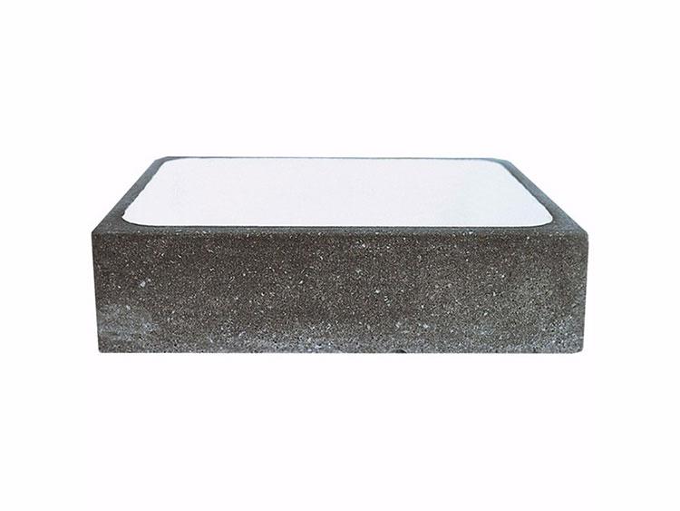 Modello di lavabo bagno in pietra lavica n.02