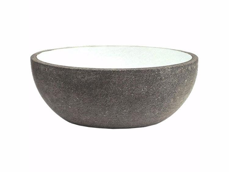Modello di lavabo bagno in pietra lavica n.03