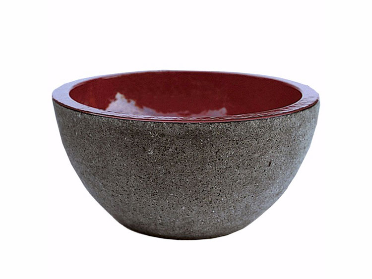 Modello di lavabo bagno in pietra lavica n.04