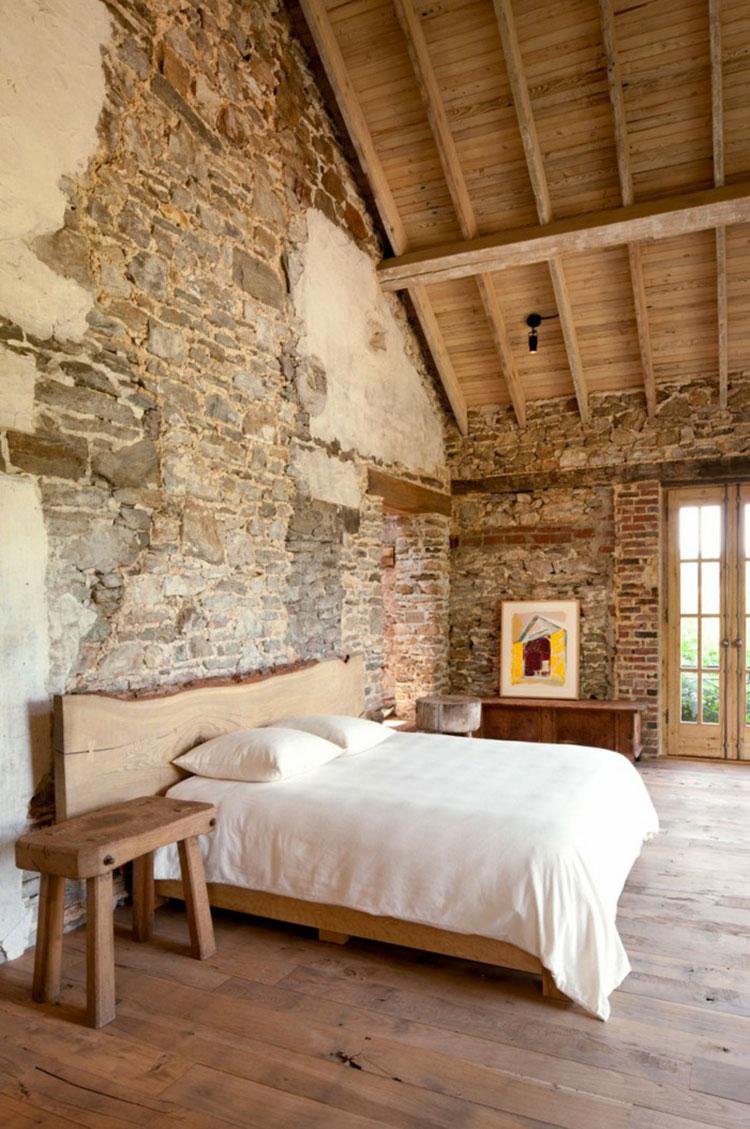 Pareti rivestite in pietra per camere da letto classiche o moderne - Camera da letto pareti ...